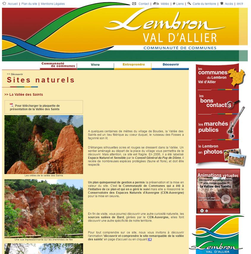 Site internet pour communauté de communes