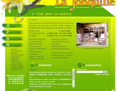 Site web Annemasse Mercerie-la-Jonquille