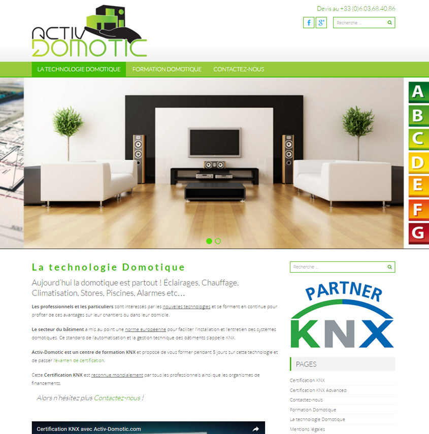 Formation Domotique - certification KNX