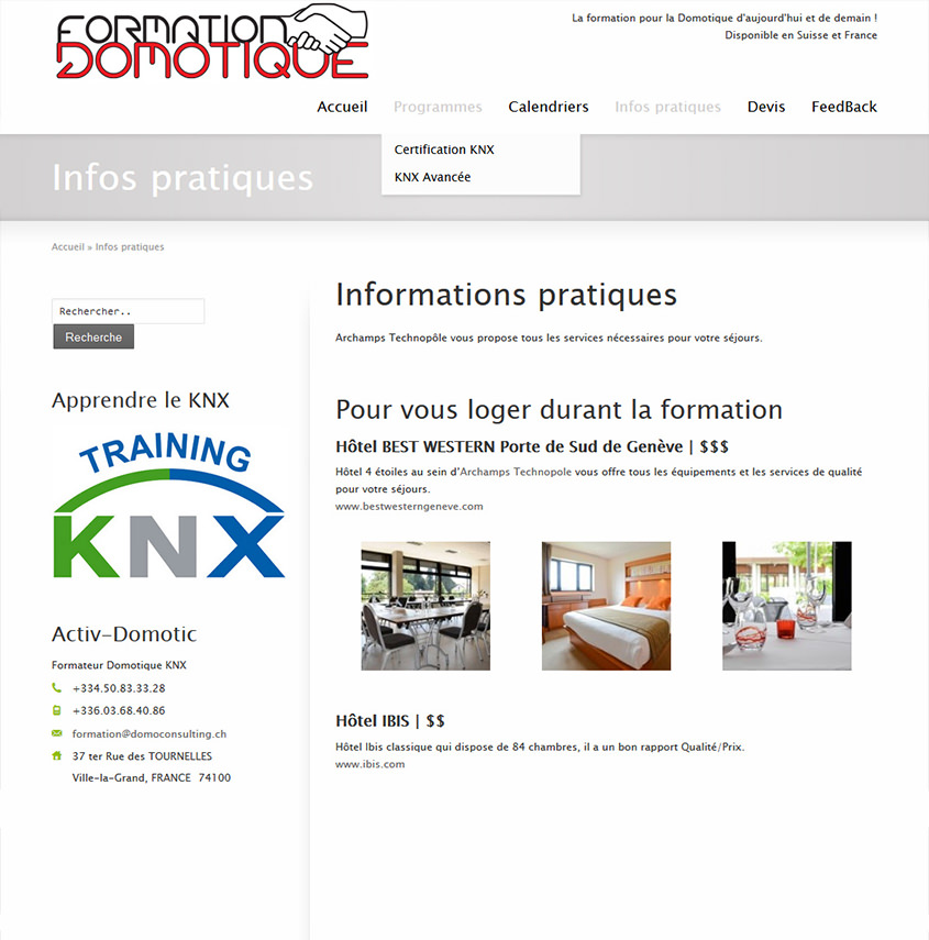 Formation Domotique en Suisse