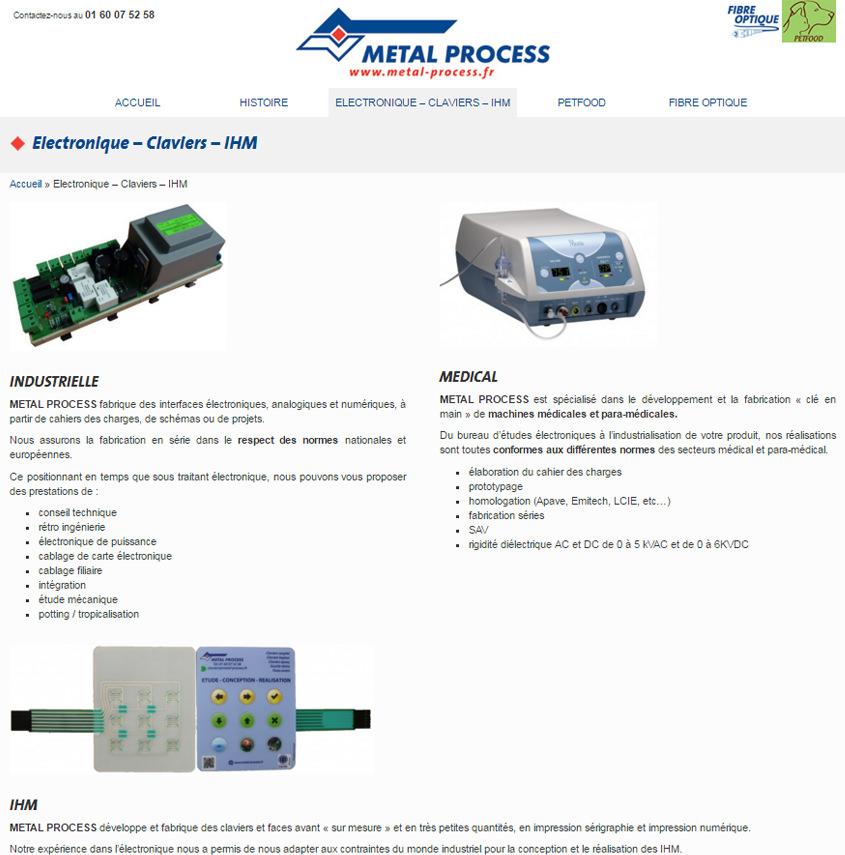 Metal-Process.fr - Bureau d'études sur des projets électroniques