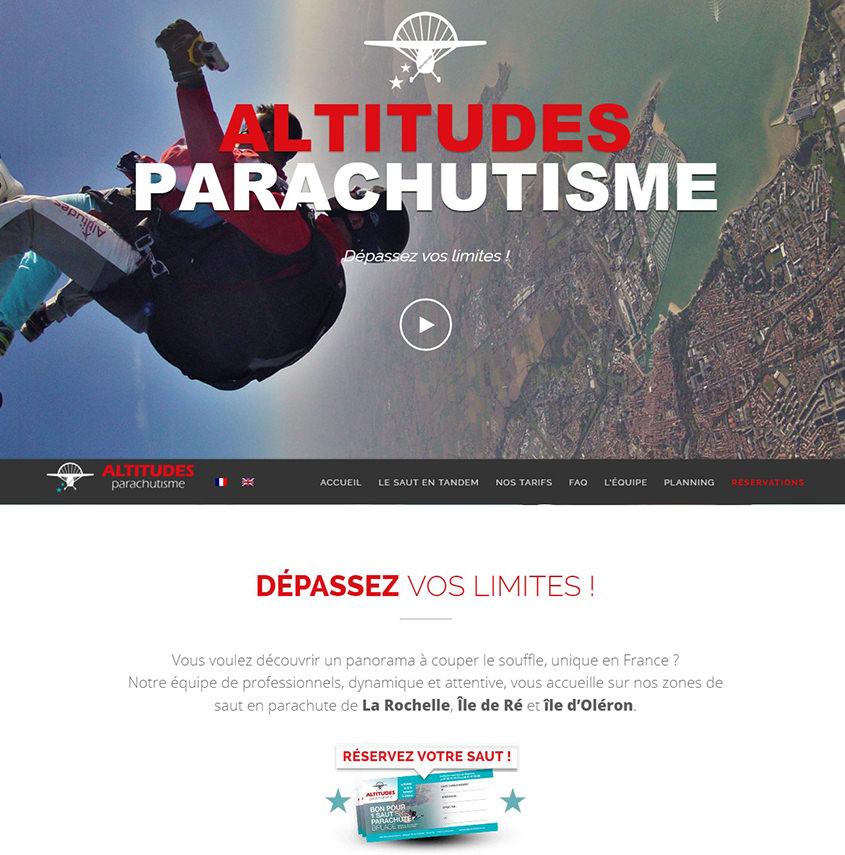 Altitudes Parachutisme développement web et maintenance de site internet