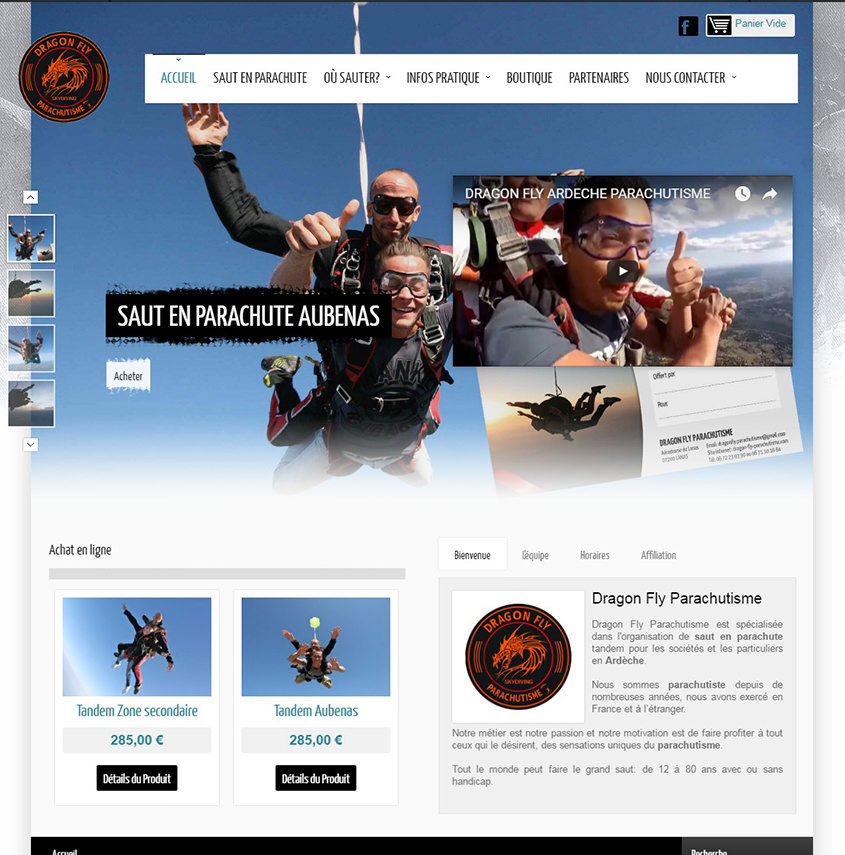 Dragon-Fly Parachutisme responsive design
